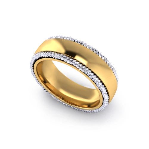 Twisted Border Wedding Ring