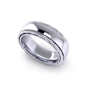Twisted Border Wedding Ring