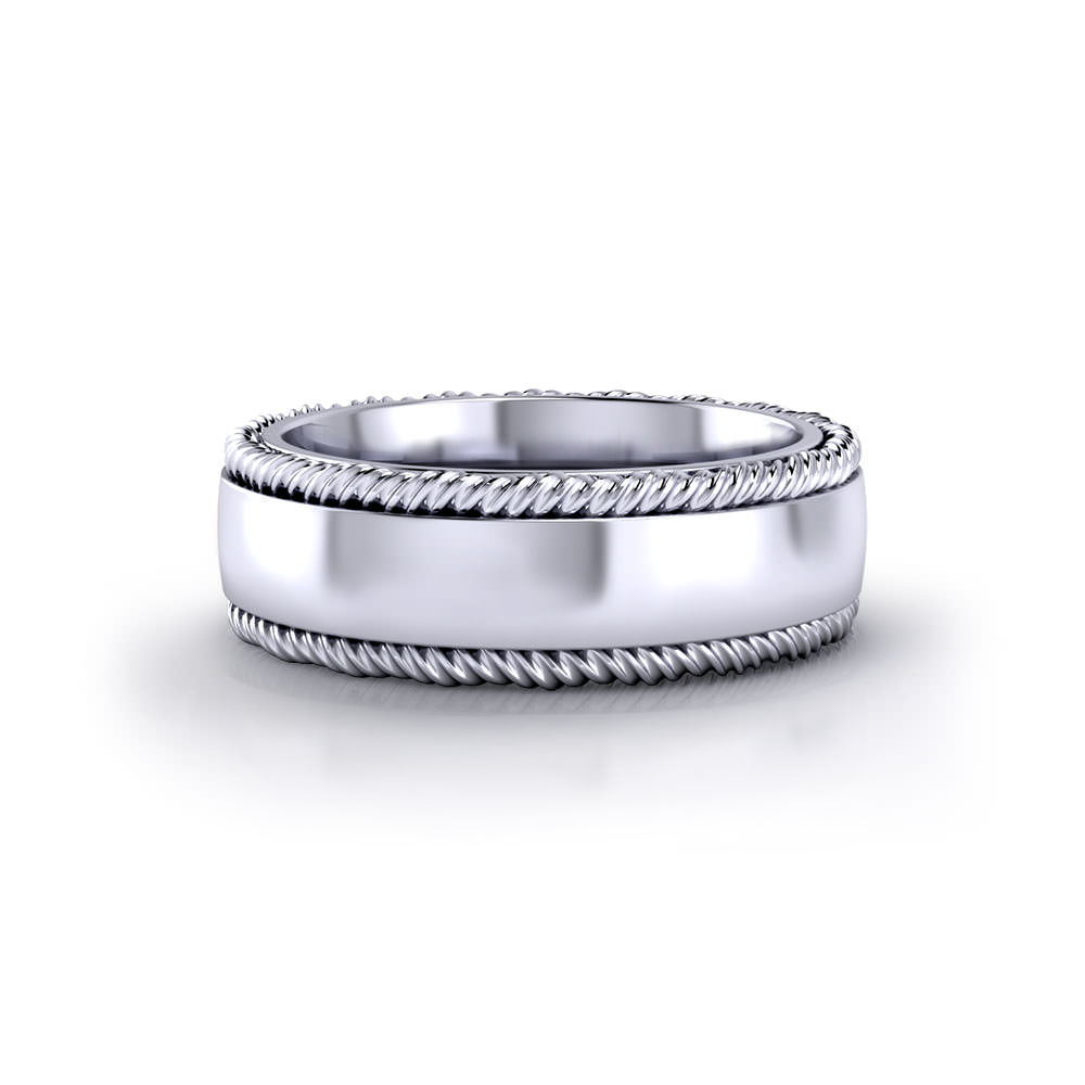 Twisted Border Wedding Ring Jewelry Designs