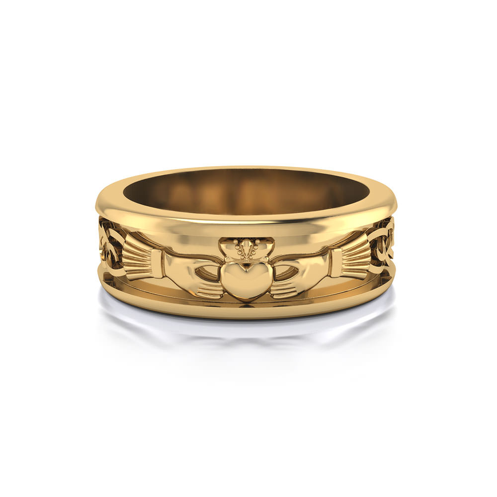 Claddagh Wedding Ring For Men  Photo#17