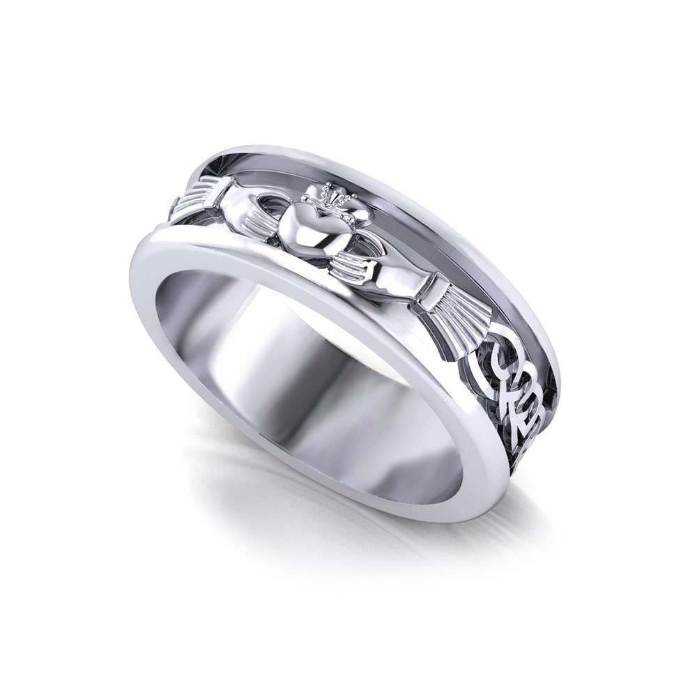 men 39 s claddagh wedding ring jewelry designs. Black Bedroom Furniture Sets. Home Design Ideas