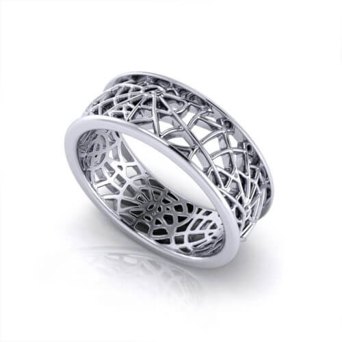 Spider Web Wedding Ring