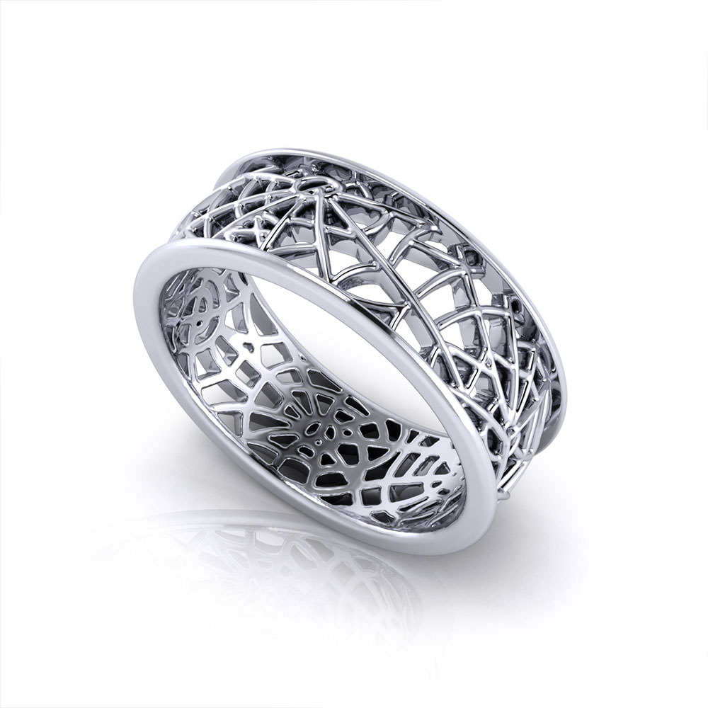 QK284 1 spider web wedding ring H - Traditional Wedding Order Of Events