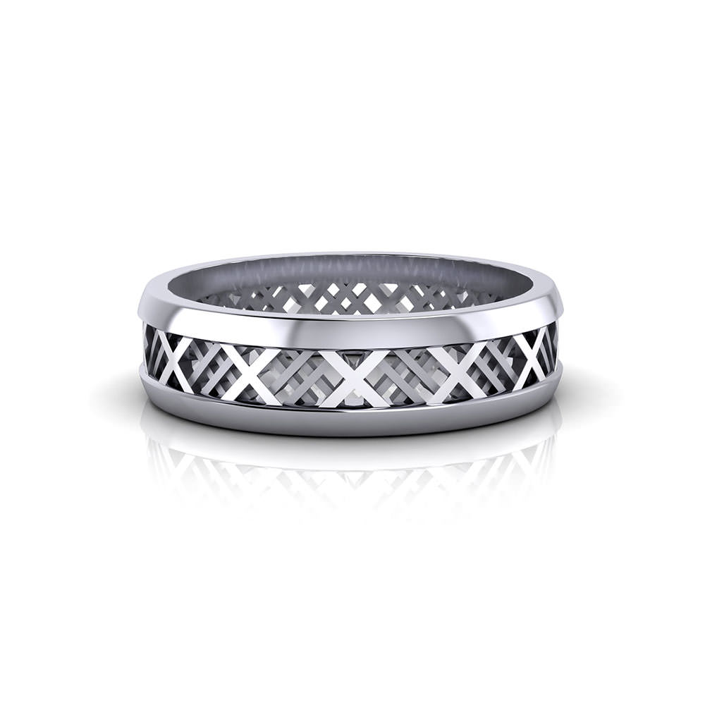 X Men's Wedding Band