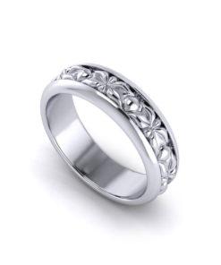 Sculpted Mens Wedding Rings