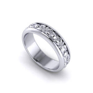 Sculpted Mens Wedding Rings