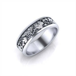 Grapevine Man's Wedding Ring