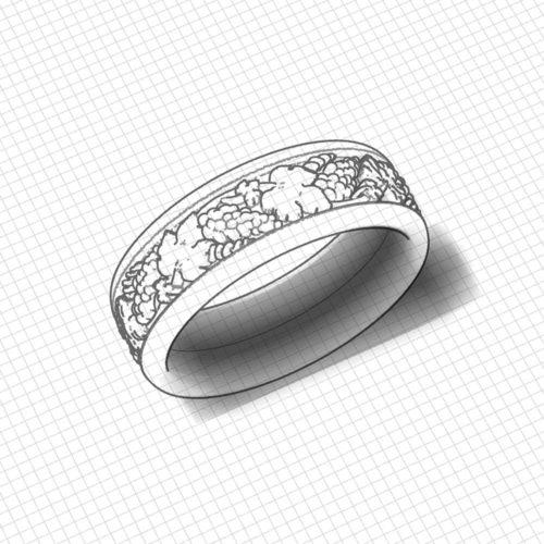 Grape Wedding Ring