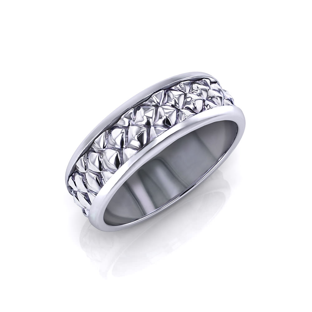 Pinecone Men's Wedding Ring