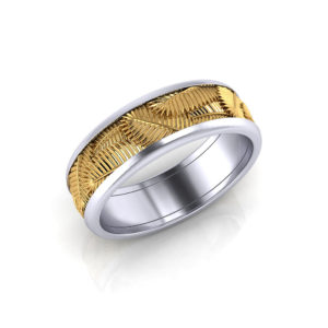 Palm Leaf Wedding Band