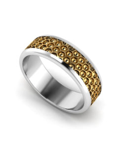 Honeycomb Men's Wedding Ring