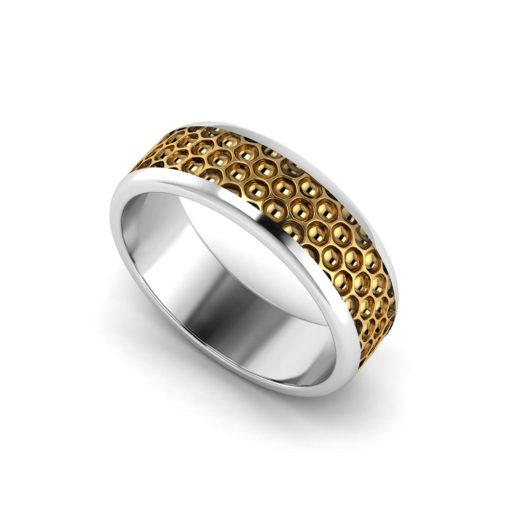 Honeycomb Men's Wedding Ring
