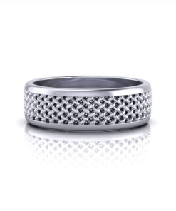 Mens Mesh Wedding Ring