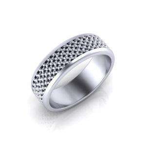 Mens Mesh Wedding Ring