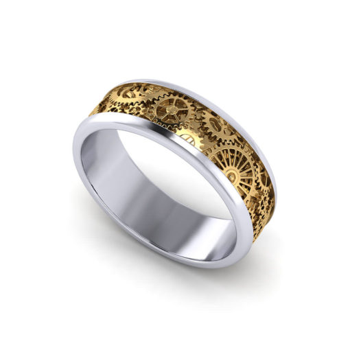 Mens Kinetic Wedding Ring