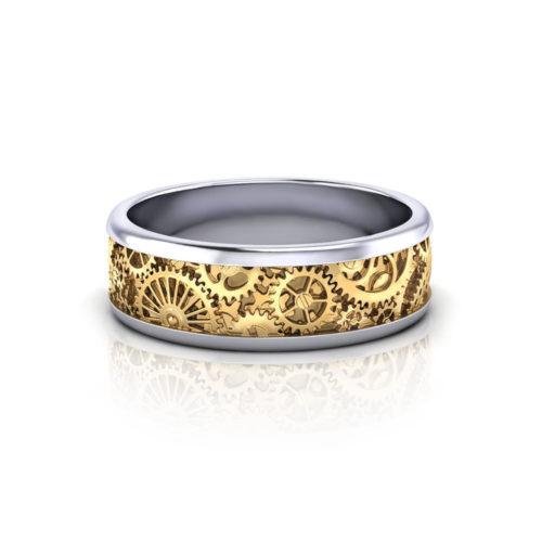 Mens Kinetic Wedding Ring