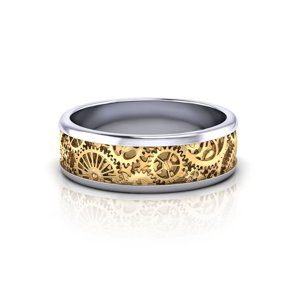 Mens Kinetic Wedding Ring - Jewelry Designs
