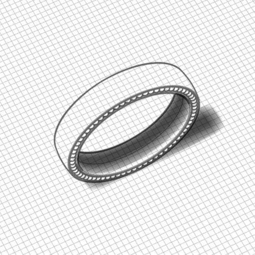 Simple Men's Wedding Ring