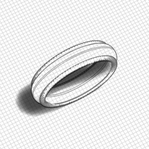 Braided Edge Wedding Band