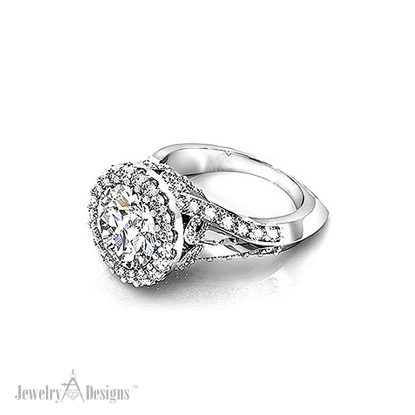 RD104-1 Four Carat Halo Engagement