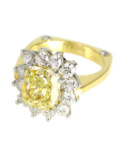 Natural Yellow Diamond Ring