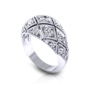 Diamond Domed Rings