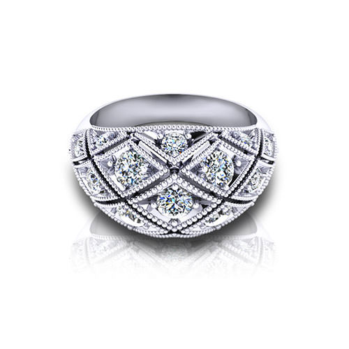 Diamond Domed Rings