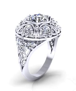 RD176-1-vintage-hexagon-diamond-ring