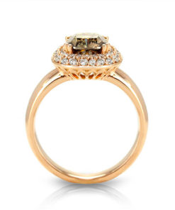 Champagne Diamond Ring