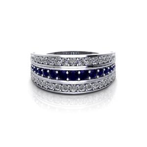 Ruby Sapphire Diamond Ring