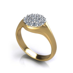 Circle Pave Dome Ring