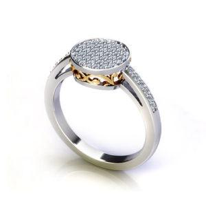 Circle Pave Ring