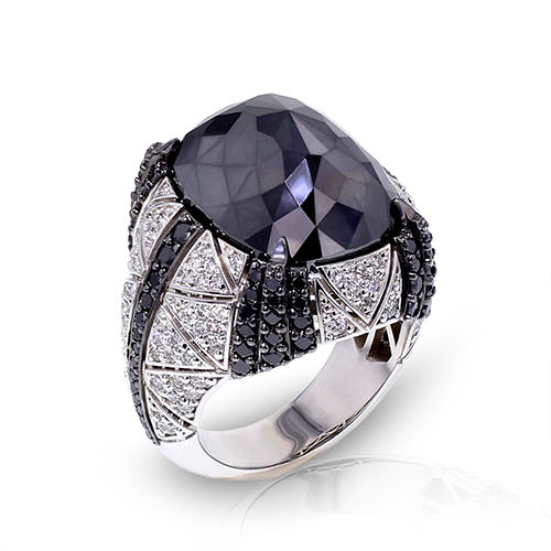 Large Black Diamond Ring