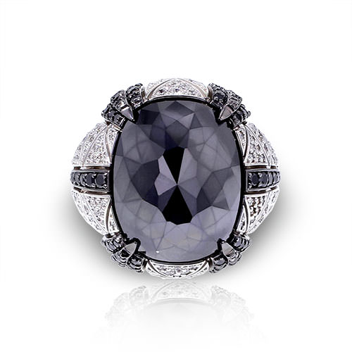 Large Black Diamond Ring Jewelry Designs