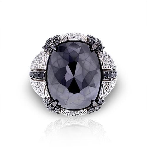 Large Black Diamond Ring