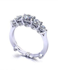 Five Diamond Anniversary Ring