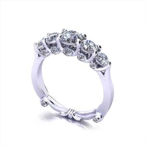 Five Diamond Anniversary Ring