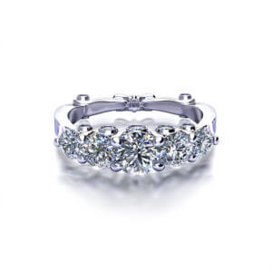 Five Diamond Anniversary Ring-top