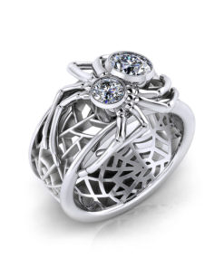 Custom Spider Diamond Ring