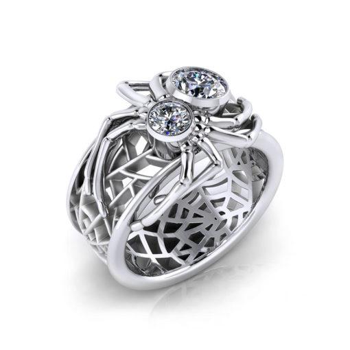 Custom Spider Diamond Ring