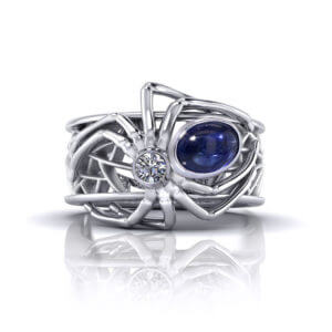 Sapphire Spider Ring