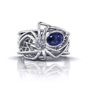 Sapphire Spider Ring