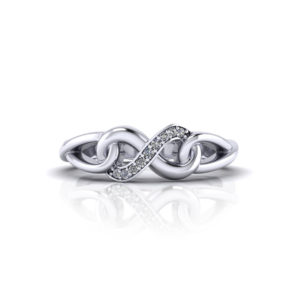 Diamond Infinity Promise Ring
