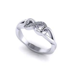 Diamond Infinity Promise Ring