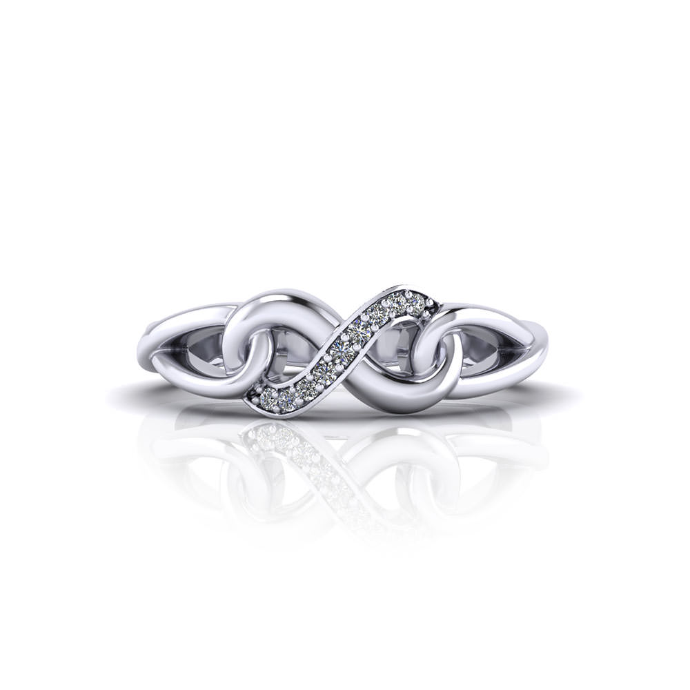 Diamond Infinity Promise Ring Jewelry Designs