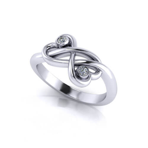 Twin Heart Promise Ring