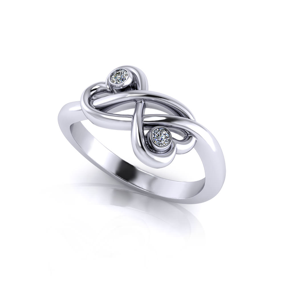Twin Heart Promise Ring Jewelry Designs