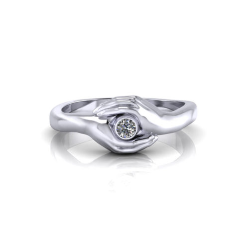 Clasped Hand Promise Ring