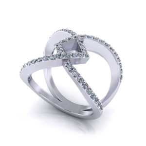 Ladies Wide Diamond Ring