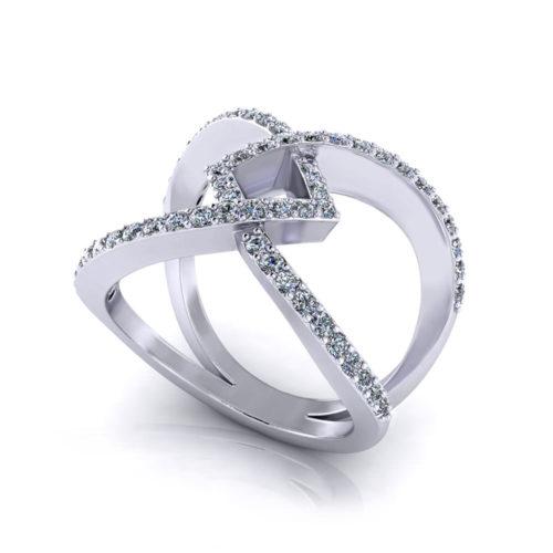 Ladies Wide Diamond Ring